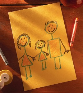 Child's Drawing of Family ca. 1999
